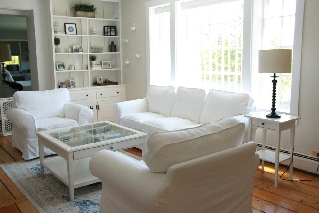 Ikea Ektorp white sofa